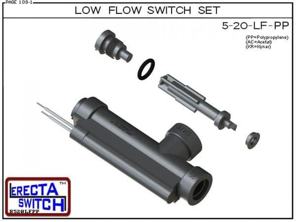 - ERECTA SWITCH 5-20-LF-PP Ultra Low Flow Switch Set - Polypropylene