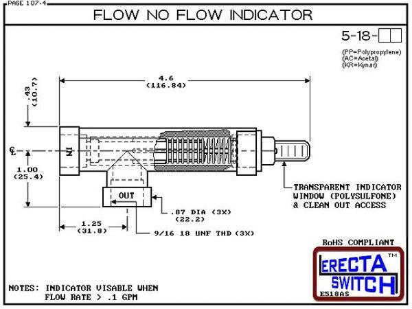 Flow Indicator - ERECTA SWITCH 5-18-AC - Diagram