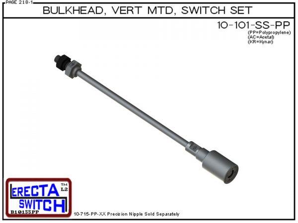 10-101-BLK shielded 1 level extended stem switch set
