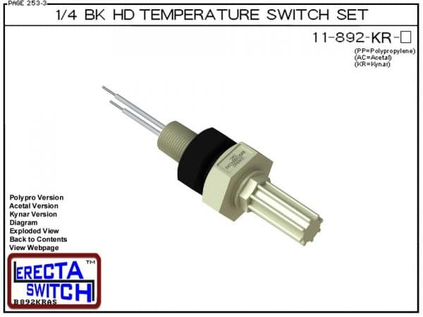 11-892-KR 1/4 Bulkhead Temperature Switch Set (PVDF Kynar)-0