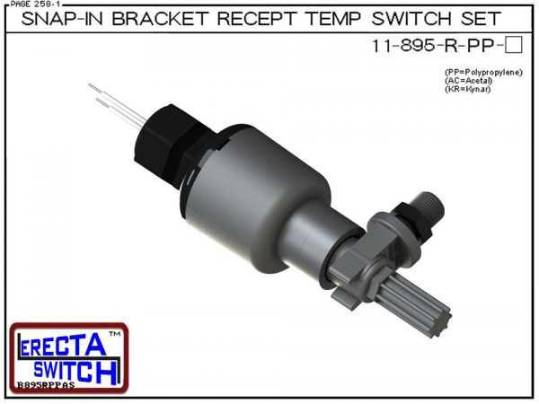11-895-R-PP Bimetal Receptacle / Snap-In Bracket Mounted Temperature Switch Set (Polypropylene)-0