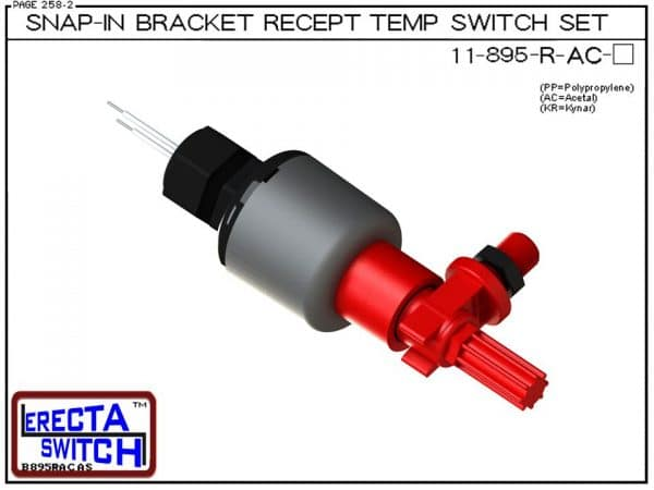 11-895-R-AC Bimetal Receptacle / Snap-In Bracket Mounted Temperature Switch Set (Acetal)