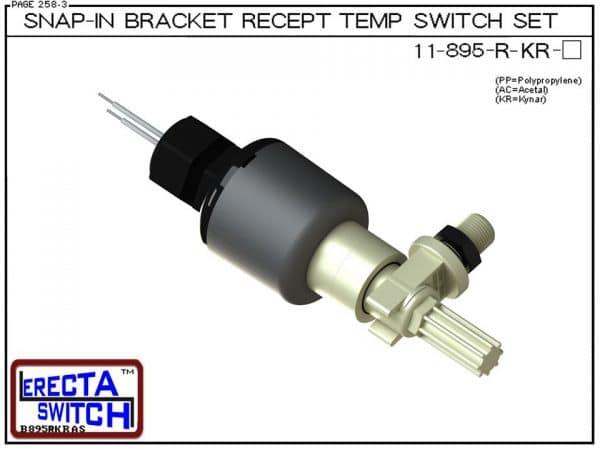 11-895-R-KR Bimetal 1-1/4 NPT Wire Receptacle Temperature Switch Set (PVDF Kynar) - OEM 10 Pack -0
