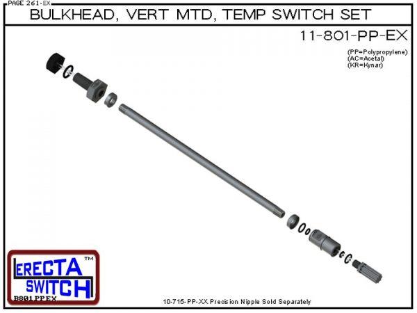 11-801-KR 1/4 Bulkhead Mounted Temperature Probe / Bimetal Temperature Switch Set (PVDF Kynar)-5785