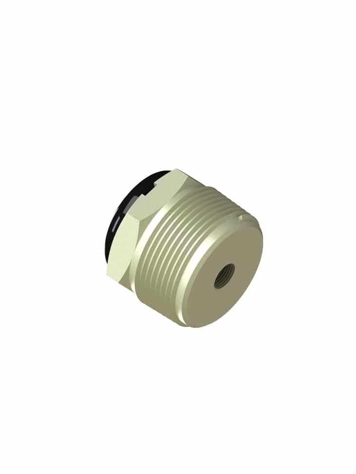 10-700-R4-KR 1-1/4  (1/8 NPT THD) Wiring Receptacle (PVDF Kynar) – 10 Pack